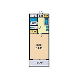 パルム松枝[3階]の間取り