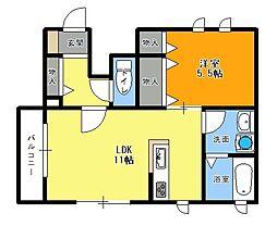 RitzHouse[101号室]の間取り
