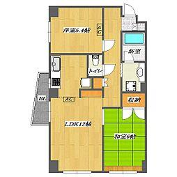 Mansion KIRAKU2[A601号室]の間取り