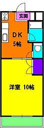 静岡県磐田市鮫島の賃貸マンションの間取り