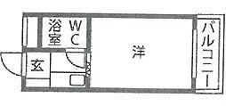 サニーサイド武庫之荘[301号室]の間取り