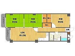 メゾンINAKO[4階]の間取り