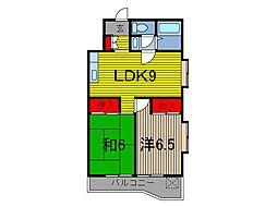 わらび中央パークマンション[2階]の間取り