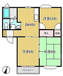 シャトルパート5[2階]の間取り