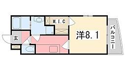 兵庫県姫路市別所町別所の賃貸マンションの間取り