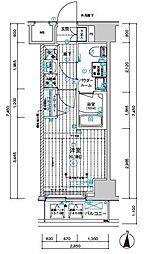 メインステージ千住中居町[5階]の間取り