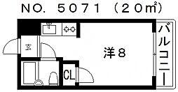 水明ハウス[403号室号室]の間取り