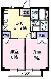 東京都あきる野市山田の賃貸アパートの間取り
