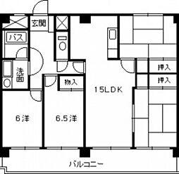 広島県広島市西区古江東町の賃貸マンションの間取り