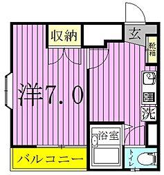コミゾ中央ビル[201号室]の間取り