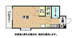 ロイヤルリッチ[4階]の間取り