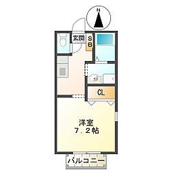 プリシェール平田[106号室]の間取り