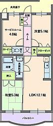 プリマべーラ[303号室]の間取り