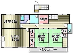 [一戸建] 大阪府泉南市樽井3丁目 の賃貸【/】の間取り