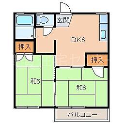 フォーブル保田[2階]の間取り