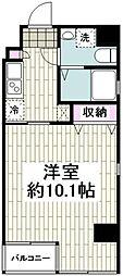 横浜ウエストレジデンス 4階1Kの間取り