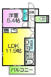 大阪府堺市堺区一条通の賃貸マンションの間取り