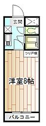 スクエアKII[3階]の間取り