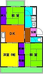 静岡県浜松市中区曳馬6丁目の賃貸マンションの間取り