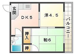 コーポエイト[3階]の間取り