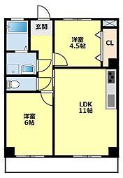 愛知県豊田市栄町7丁目の賃貸マンションの間取り