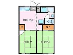 西谷アパート[1階]の間取り