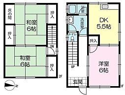 [一戸建] 兵庫県姫路市白国5丁目 の賃貸【/】の間取り
