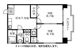 第2柴田ビル[401号室]の間取り