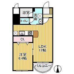サンライズマンション[301号室]の間取り
