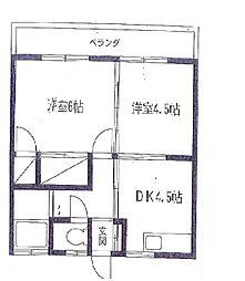横山荘[201号室号室]の間取り