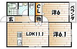 Colorier中井[2階]の間取り