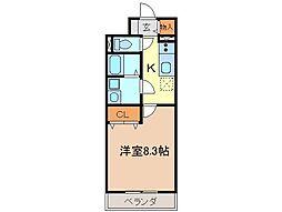 静岡県富士市中央町1丁目の賃貸マンションの間取り