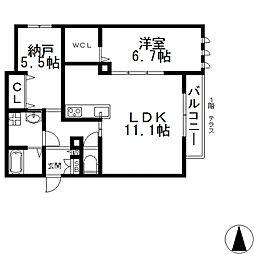 (仮称)東大阪市・シャーメゾン岩田町3丁目[205号室号室]の間取り