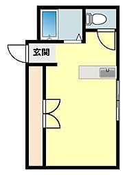 愛知県岡崎市美合町字平地の賃貸マンションの間取り