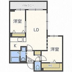 北海道札幌市中央区南八条西13丁目の賃貸マンションの間取り