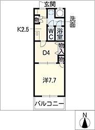 エール白須賀II[1階]の間取り