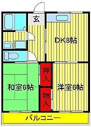 第3高橋コーポ[101号室]の間取り
