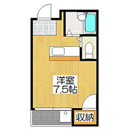 ヴィラISHIKAWA[202号室]の間取り