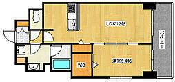 Cherir六甲道 8階1LDKの間取り