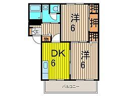 シーズ桜C[101号室]の間取り
