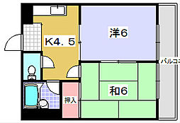 三熊渚7号[203号室]の間取り