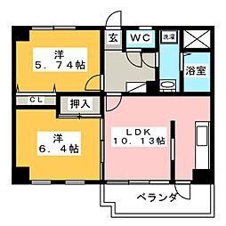 セレッソトキワ[5階]の間取り