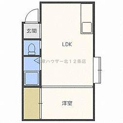 ビルボードN28[3階]の間取り