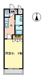 エクセレンスハイム仁田駅前[110号室]の間取り