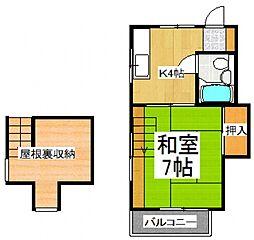 第二肥沼コーポ[2階]の間取り