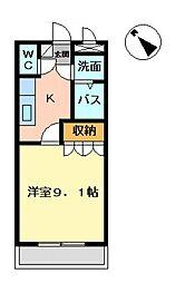 埼玉県深谷市東方町3丁目の賃貸アパートの間取り