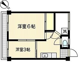 三福マンション[504号室]の間取り
