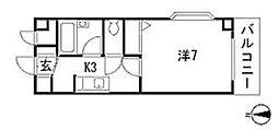 栃木県宇都宮市戸祭元町の賃貸マンションの間取り
