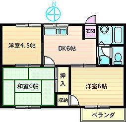 石川ハイツ[203号室]の間取り