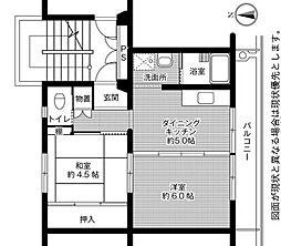 ビレッジハウス石鳥谷1号棟[5階]の間取り